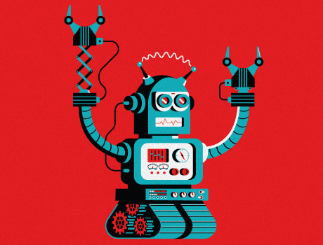 UMD Smith Magazine Robot Illustration
