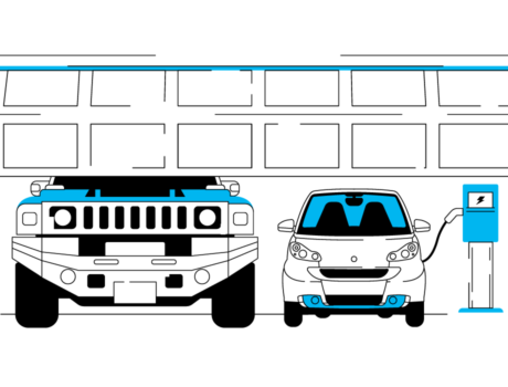 Fuel-Efficient Cars Illustration